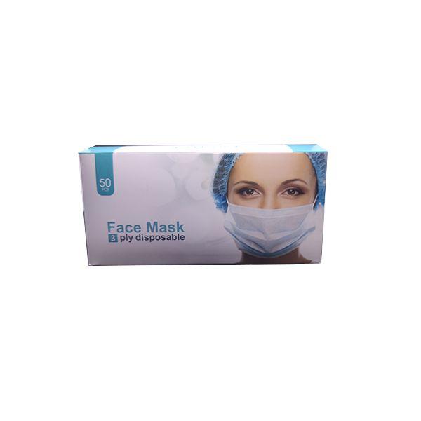 ماسک تنفسی سه لایه پرستاری بسته ۵۰ عددی رنگ سبز