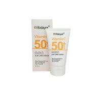 کرم ضد آفتاب بی رنگ SPF50 حاوی ویتامین سی ویتالیر 30 میل Vitalayer